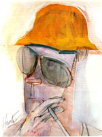 Portrait by Ralph Steadman